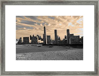 Kourion-temple Of Apollo Framed Print by Augusta Stylianou