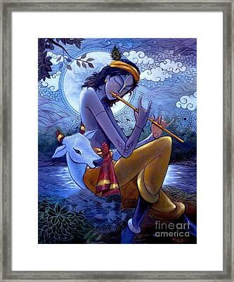 Krishna Framed Print by Rajesh babu Ponnayyan