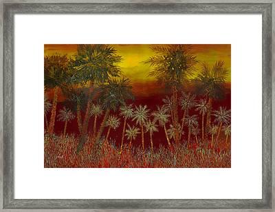 La Jungla Rossa Framed Print by Guido Borelli