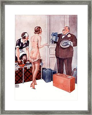 La Vie Parisienne 1920s France Cc Framed Print by The Advertising Archives