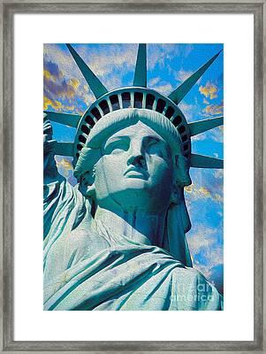 Lady Liberty Framed Print by Jon Neidert