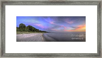 Lake Michigan Sunset Framed Print by Twenty Two North Photography