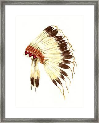 Lakota Headdress Framed Print by Michael Vigliotti
