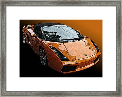 Lamborghini Gallardo Spyder Framed Print by Samuel Sheats