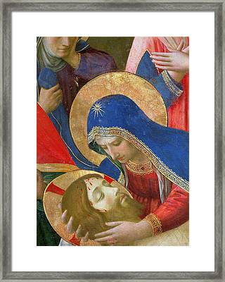 Lamentation Over The Dead Christ Framed Print by Fra Angelico