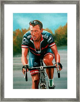 Lance Armstrong Framed Print by Paul Meijering