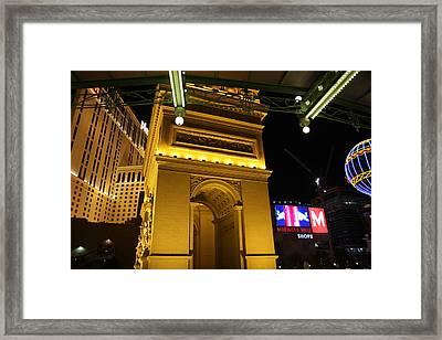 Las Vegas - Paris Casino - 12128 Framed Print by DC Photographer