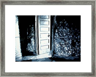 Laura's Painting Framed Print by Luis Ludzska