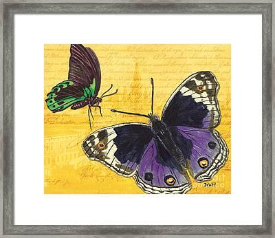 Le Papillon 4 Framed Print by Debbie DeWitt