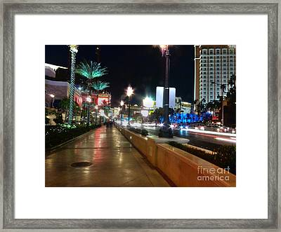 Leaving Las Vegas Framed Print by David Bearden