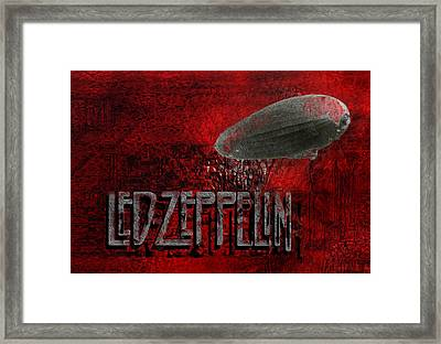 Led Zeppelin Framed Print by Jack Zulli