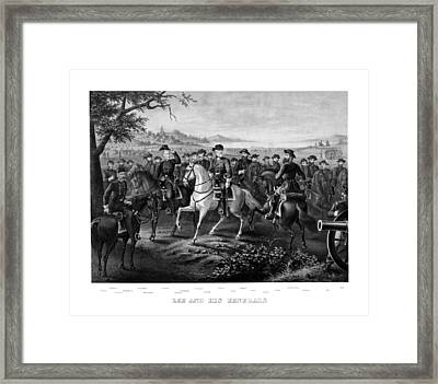 Lee And His Generals Framed Print by War Is Hell Store