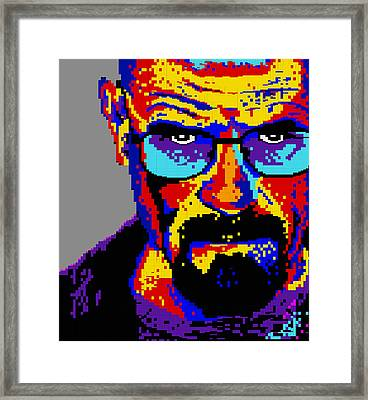 Lego Walter White  Framed Print by Marc Orphanos
