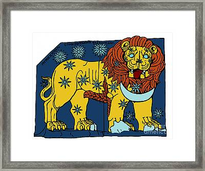 Leo Constellation Zodiac Sign Framed Print by Science Source