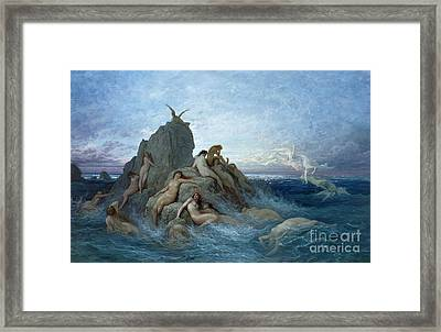 Les Oceanides Framed Print by Gustave Dore