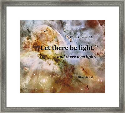 Let There Be Light Framed Print by Patricia Januszkiewicz