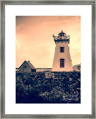 Lighthouse Prince Edward Island Framed Print by Edward Fielding