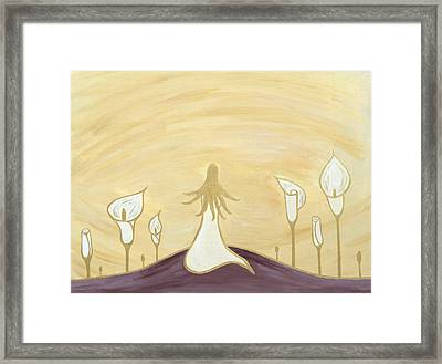 Lilies Of The Field Framed Print by Angelina Vick