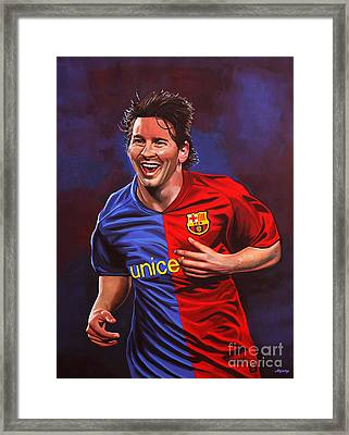 Lionel Messi  Framed Print by Paul Meijering