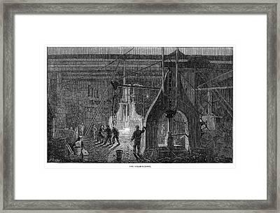 Locomotive Factory, 1864 Framed Print by Granger