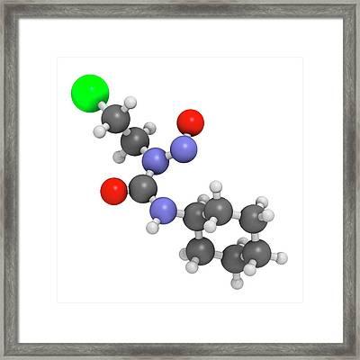 Lomustine Brain Cancer Chemotherapy Drug Framed Print by Molekuul