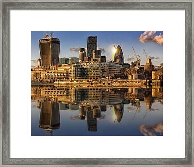 London City Skyline Framed Print by Ian Hufton