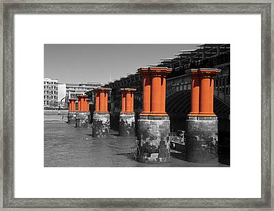 London Thames Bridges Framed Print by David French
