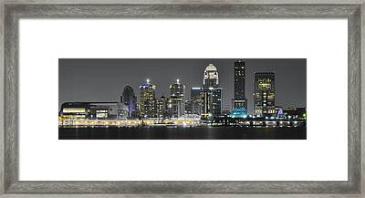 Louisville Lights Framed Print by Frozen in Time Fine Art Photography