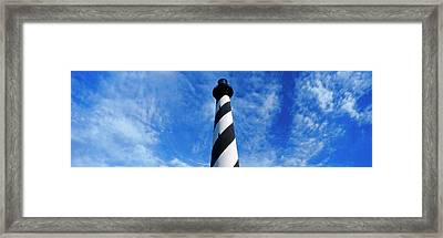 Low Angle View Of A Lighthouse, Cape Framed Print by Panoramic Images