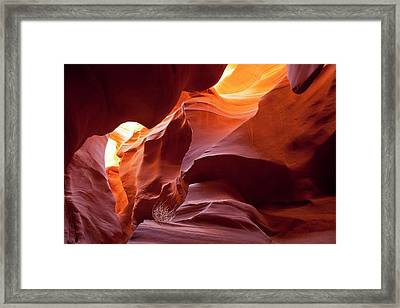 Lower Antelope Slot Canyon Framed Print by Peter Menzel