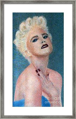 Madonna The Early Years Framed Print by Bill Holkham