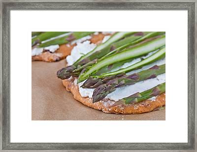 Making Pizza Framed Print by Tom Gowanlock