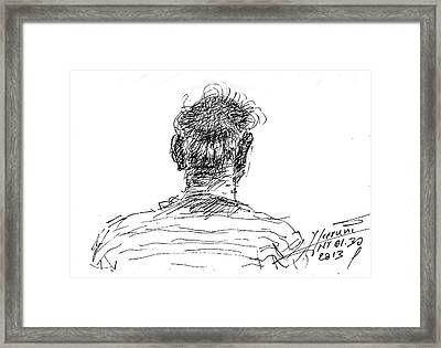 Man Head Framed Print by Ylli Haruni
