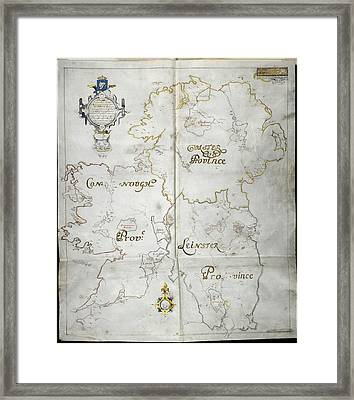 Map Of Ireland Framed Print by British Library