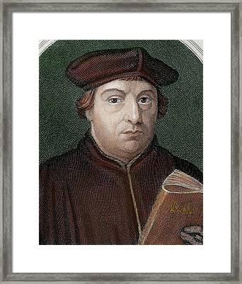 Martin Luther (eisleben, 1483 Framed Print by Prisma Archivo