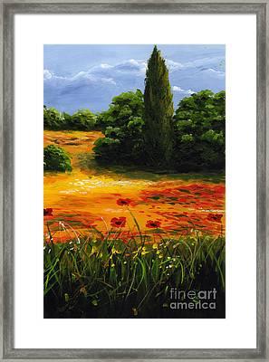 Mediterranean Landscape Framed Print by Edit Voros