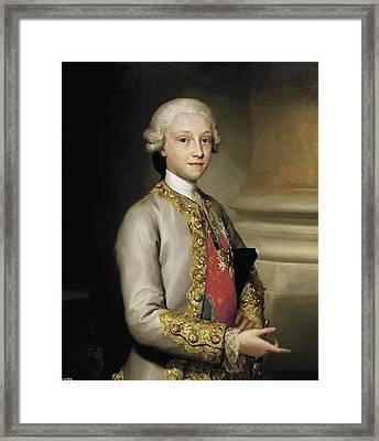 Mengs, Anton Raphael 1728-1779. Infante Framed Print by Everett