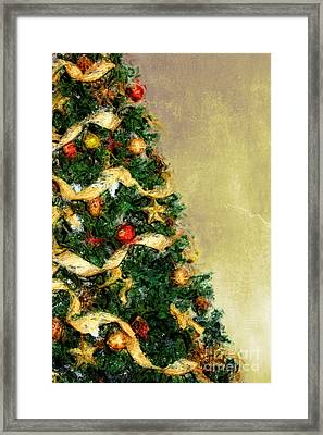 Merry Xmas Framed Print by Angela Doelling AD DESIGN Photo and PhotoArt