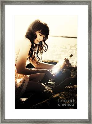 Message In A Bottle Framed Print by Jorgo Photography - Wall Art Gallery