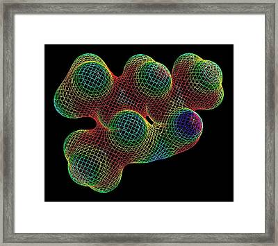 Methylhexanamin Molecule Framed Print by Alfred Pasieka