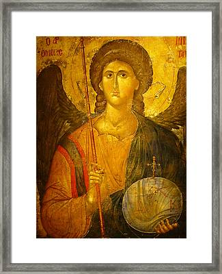 Michael The Archangel Framed Print by Ellen Henneke