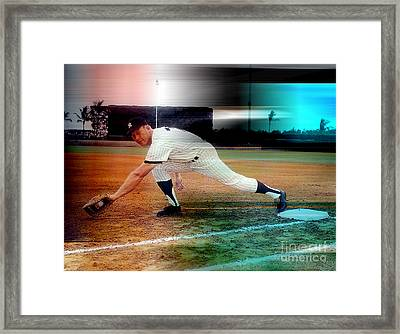 Mickey Mantle Framed Print by Marvin Blaine