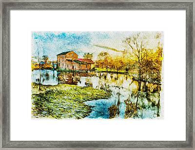 Mill By The River Framed Print by Jaroslaw Grudzinski