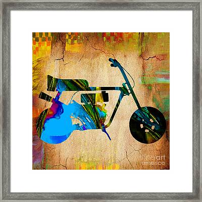 Mini Bike Art Framed Print by Marvin Blaine