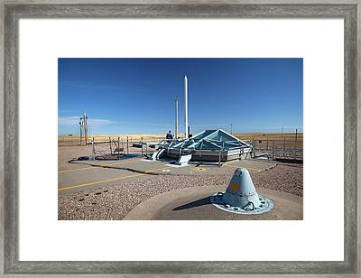 Minuteman Missile Silo Framed Print by Jim West