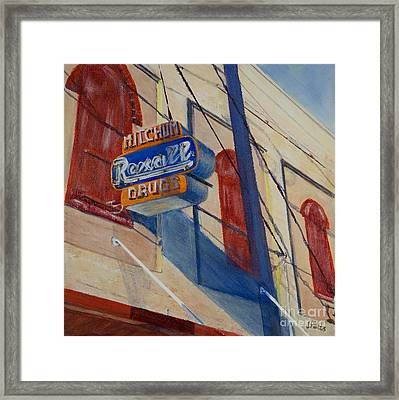 Mitchum's Drug Store Framed Print by Janet Felts