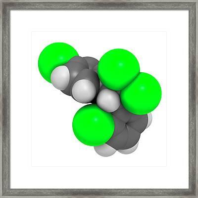 Mitotane Cancer Drug Molecule Framed Print by Molekuul