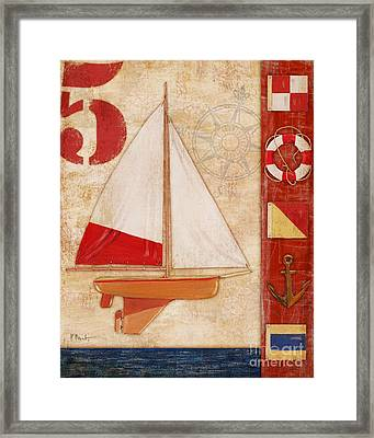 Model Yacht Collage II Framed Print by Paul Brent