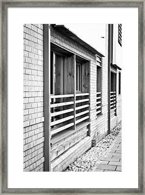 Modern Apartment Windows Framed Print by Tom Gowanlock