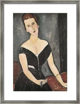 Modigliani, Amedeo 1884-1920. Portrait Framed Print by Everett